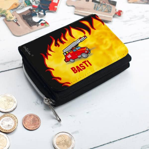 Geldbörse mit Feuerwehrmotiv