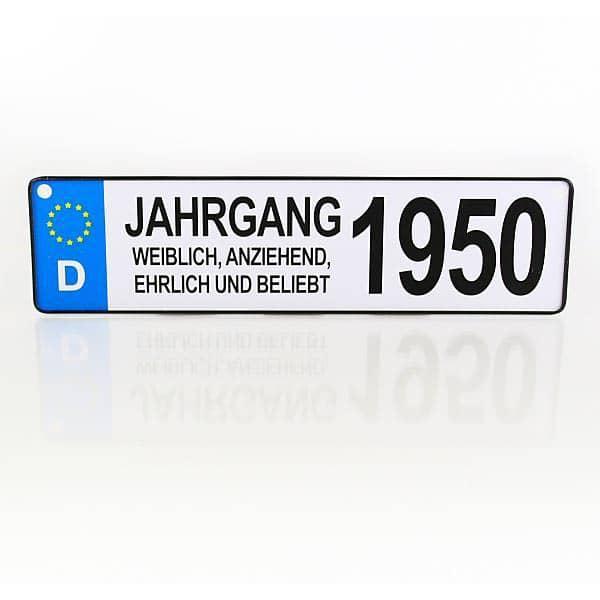 Autokennzeichen für den Jahrgang 1950