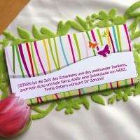 Schokolade mit Schmetterlingen und extra langem Textfeld