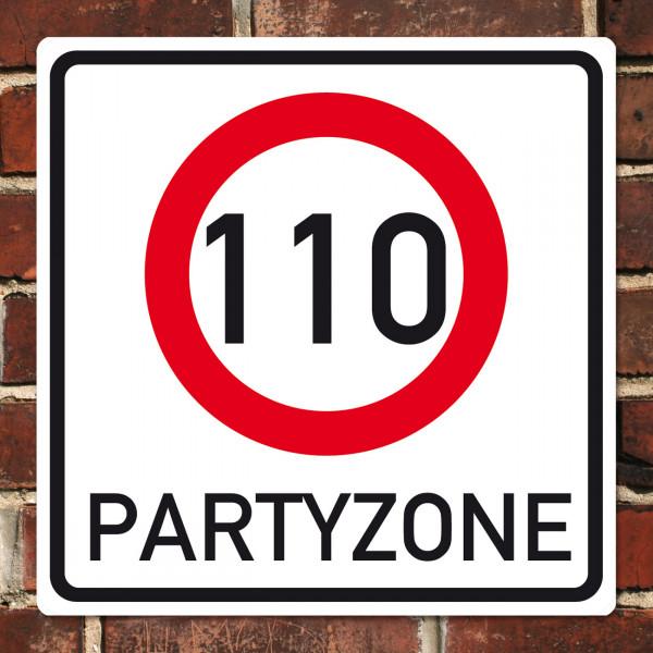 PVC-Banner zum 110. Geburtstag