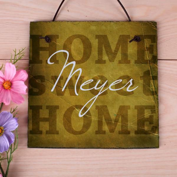 Home Sweet Home - Schiefertafel