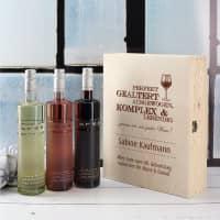 Persönliches Geschenkset für Weinkenner in edler Holzbox