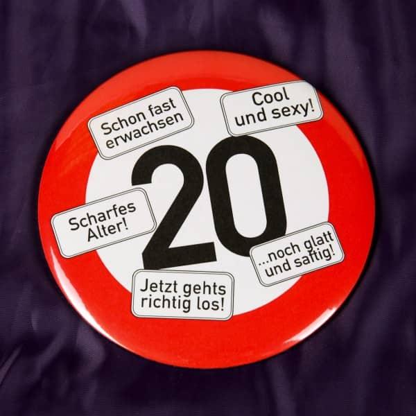 Button zum 20. Geburtstag