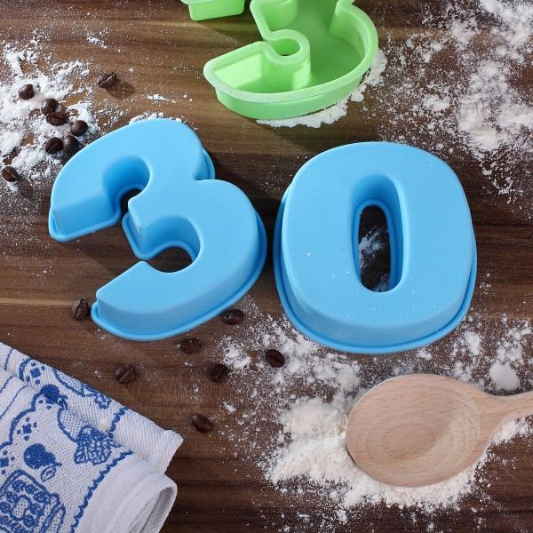 Backform zum 30. Geburtstag, blau