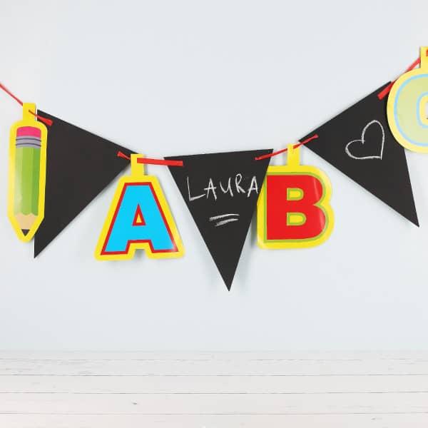 Wimpelkette für den Schulanfang