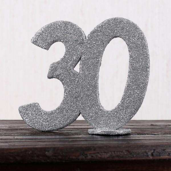 Silberne Dekozahl 30