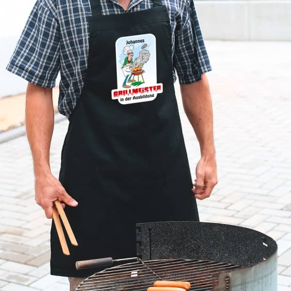 Grillschürze Grillmeister in der Ausbildung