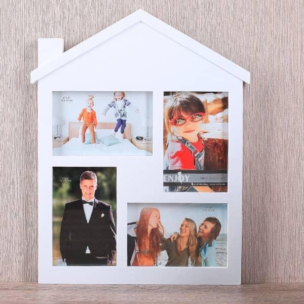 Großer Bilderrahmen in weiß - Haus