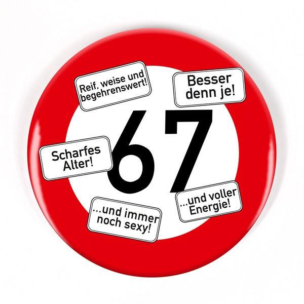 Button zum 67. Geburtstag
