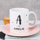 Tasse mit Name und Initiale
