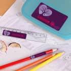 Schulaufkleber mit magischem Schmetterlings-Motiv und Name