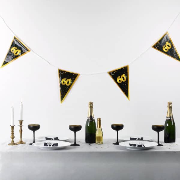 Wimpel Girlande zum 60. Geburtstag Star