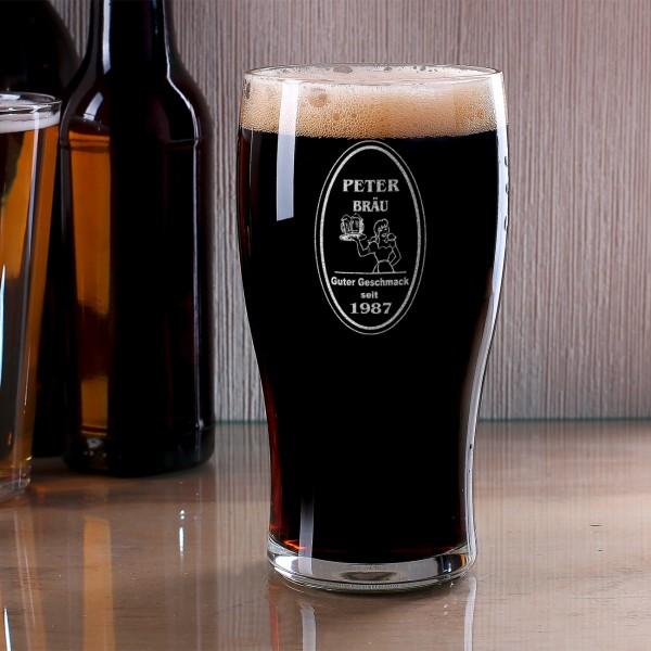 Bierglas personalisierbar Name Jahr