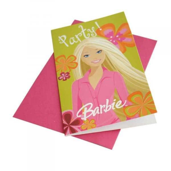6 Einladungskarten - Barbie Chic