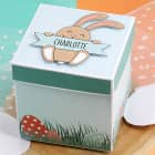 Überraschungsbox zu Ostern mit niedlichem Osterhasen und Ihrem Wunschnamen