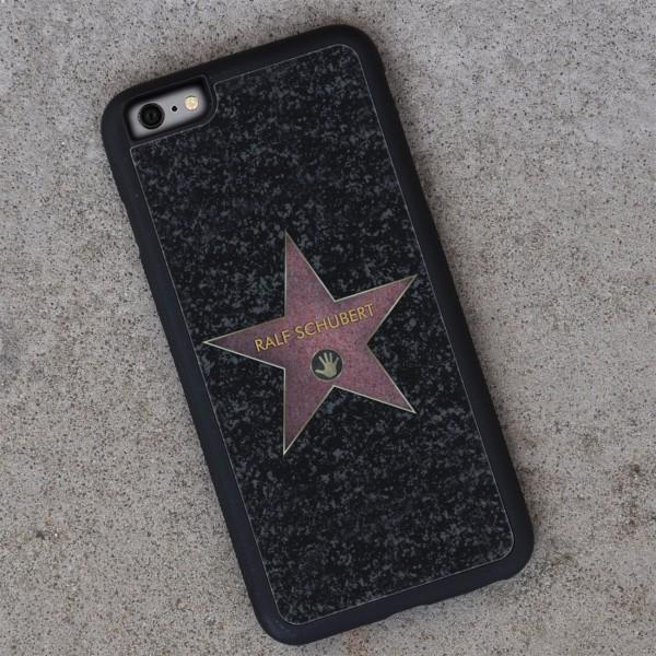 schwarze Handyhülle iPhone 6 Plus mit persönlichem Walk of Fame