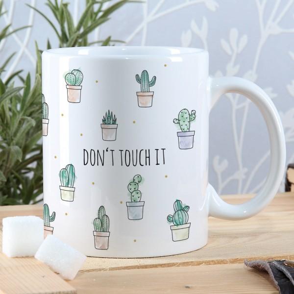 Individuellküchenzubehör - Kaktus Tasse mit Ihrem Wunschtext - Onlineshop Geschenke online.de