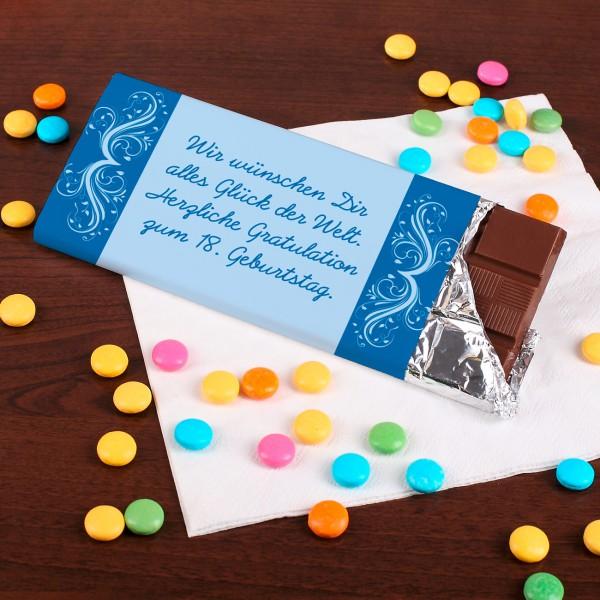 100g Schokolade mit Ihren Wunschtext