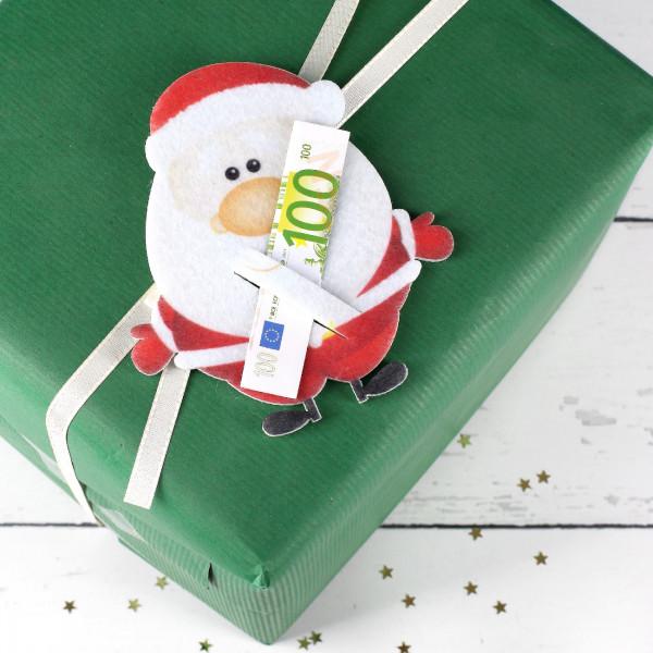 Filz Weihnachtsmann für Geldgeschenke