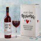Lieblingswein-Geschenkset zum Muttertag mit Weinglas in Geschenkbox