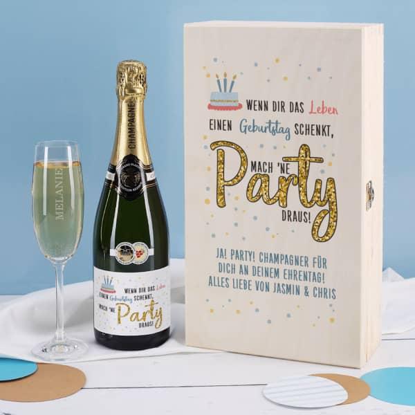 Champagner Geschenkset zum Geburtstag...mach 'ne Party draus