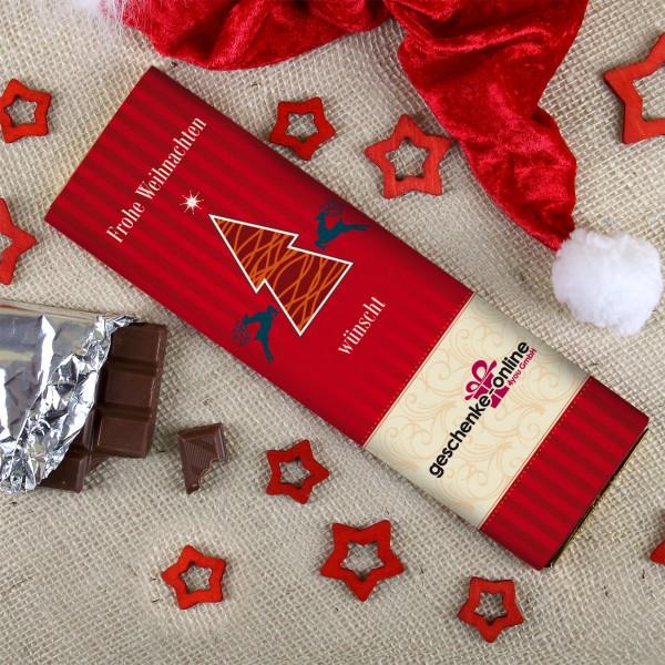 Schokolade zu Weihnachten mit Ihren Firmenlogo