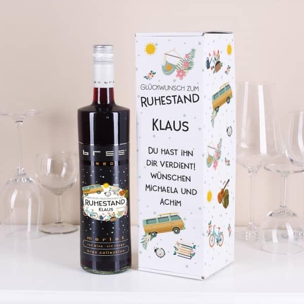 BREE Rotwein mit bedruckter Verpackung zum Ruhestand
