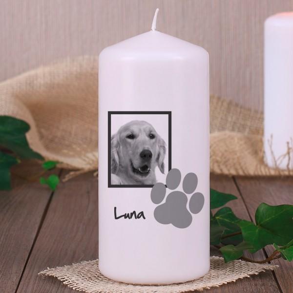 Trauerkerze für Haustier mit Pfote