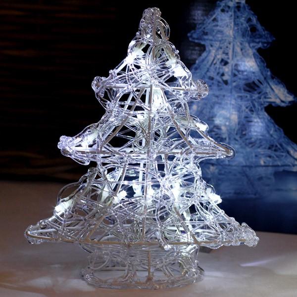 Weihnachts-Deko Tannenbaum mit 16 LED Lichtern weiß
