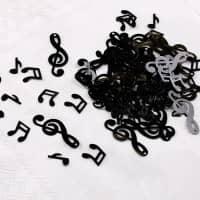 Konfetti schwarze Noten