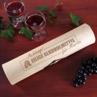 Flaschenverpackung Holzrolle - Eilige Alkoholmittel für Wein