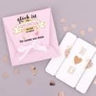 Freudinnen-Geschenk Herzarmbänder in persönlicher Verpackung