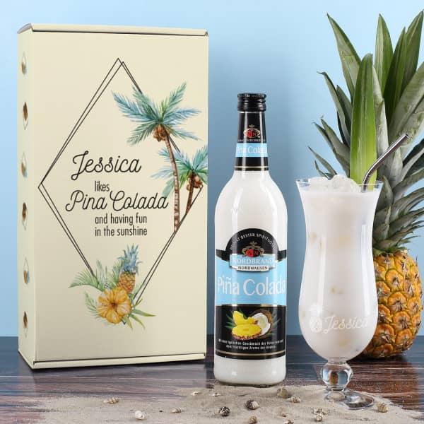 Cocktail Set mit Geschenkverpackung, Flasche und Glas