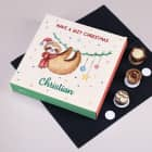 Lindt Hello Pralinen - Lazy Christmas - mit Faultier und Ihrem Wunschnamen