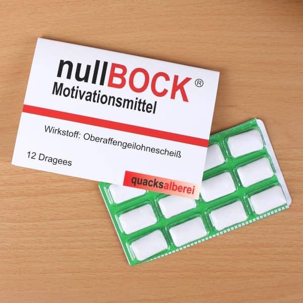 Witzigspassgeschenke - Kaugummi Motivationsmittel nullBock - Onlineshop Geschenke online.de