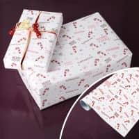 Weihnachtliches Geschenkpapier mit Name