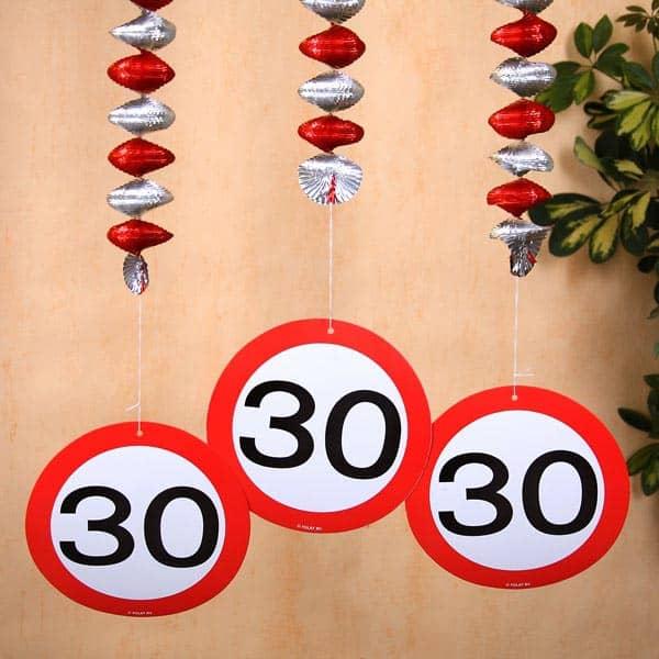 spiral girlande zum 30 geburtstag geschenke. Black Bedroom Furniture Sets. Home Design Ideas