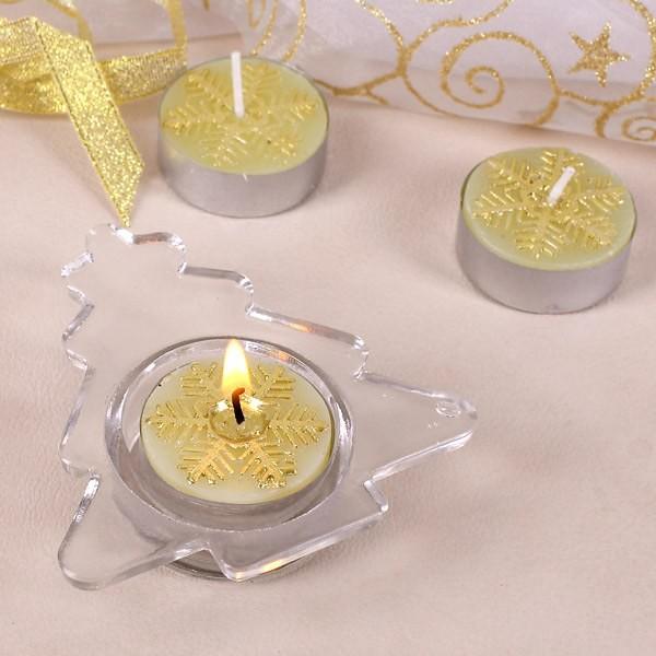 Kerzenset mit Halter Tannenbaum