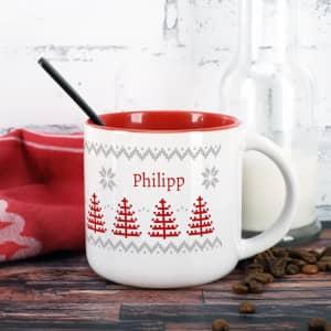 Große Tasse Weihnachten mit Name