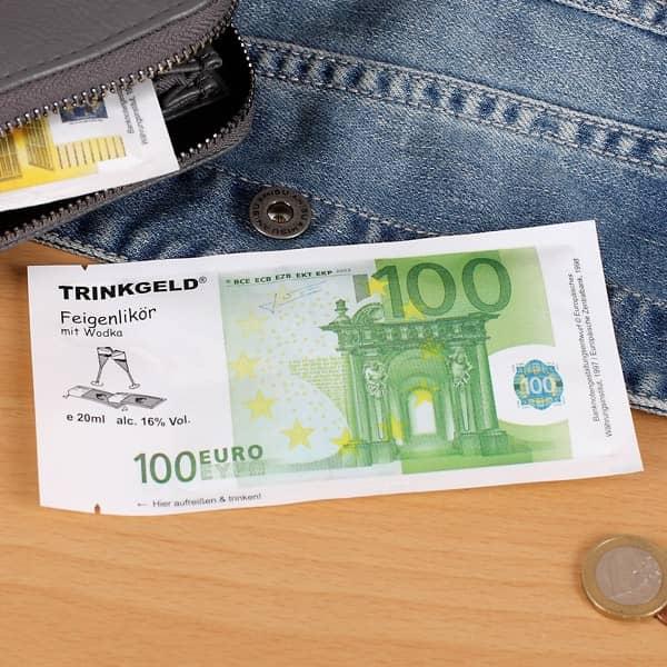 Trinkgeld 100 Euro Feigenlikör mit Wodka