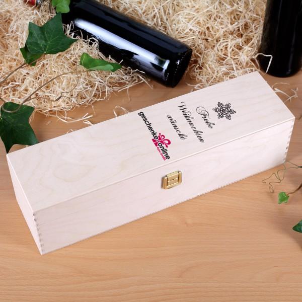 Wein - Geschenkbox aus Holz mit eigenen Firmenlogo