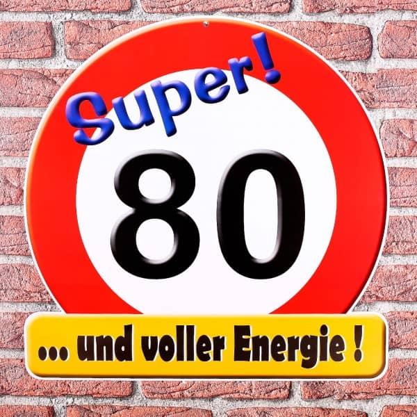 XXL Schild aus Pappe passend zum 80.