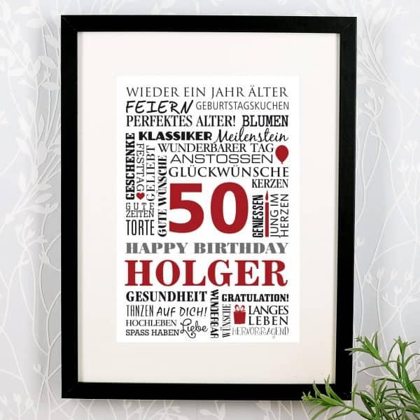 Geburtstagsgeschenk auch zum 50. Geburtstag
