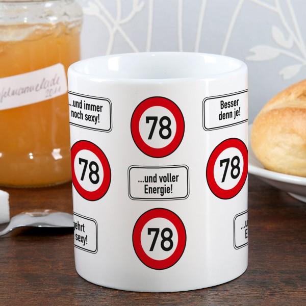 Kaffeetasse zum 78. Geburtstag!