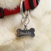 Gravierter Anhänger Hundeknochen