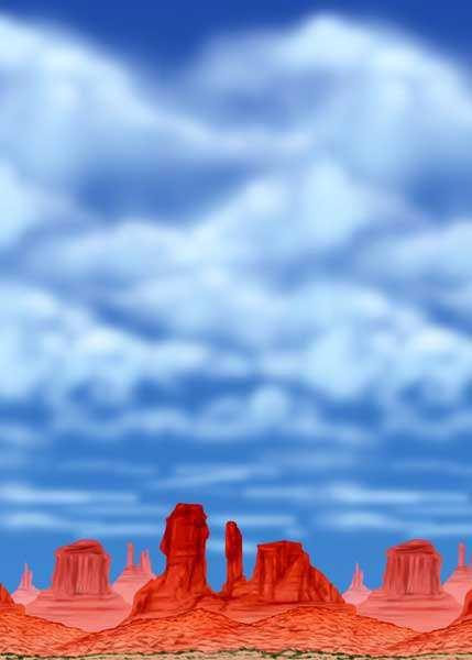 Wandszenario Western Rocks Sky für Western Party