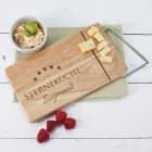 Sterneküche -  Käsebrett mit integriertem Käsemesser