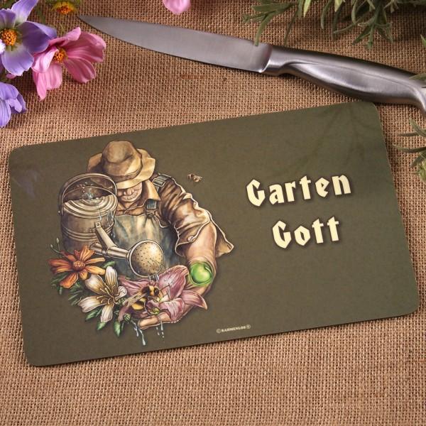 Brettchen Garten Gott