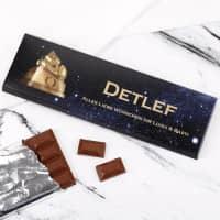 300g Schokolade zum 50. Geburtstag mit Text und Name