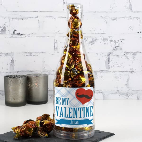 Große Pralinenflasche für Männer zum Valentinstag